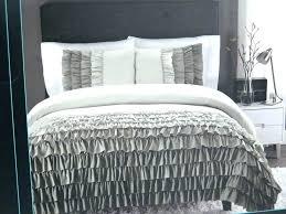 gray ruffle comforter queen size duvet queen size duvet cover ruffle bedding amazing gray ruffled comforter gray ruffle comforter