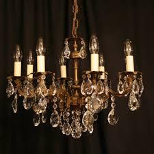 an italian gilded cast brass 8 light antique chandelier