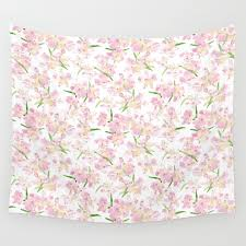 peruvian lilies small wall tapestry