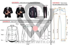 Measurements Mens Suits Chart Gentwith Size Charts Gentwith