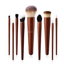 cosmetic makeup brushes set wood handle foundation power eye shadow brow concealer blending contour beauty brush tools kits stippling brush foundation brush