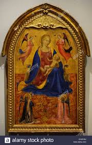 early italian renaissance painter floine school madonna and child with four Аngels early 1420s tempera on panel the state hermitage