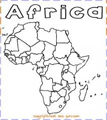 World Map Of Countries Coloring Pages Beautiful Printable Africa Map