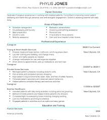 Samples Of Job Descriptions Caregiver Experience Resume Sample Professional Samples Job