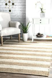 stripes jute rug bleached 8x10