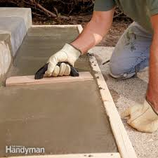 rebuild damaged edges and corners to make your concrete steps look like new