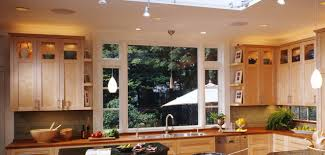 Glass Front Kitchen Cabinets Contemporary Kitchen