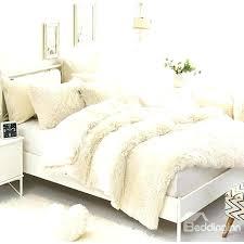 fluffy duvet cover fluffy white bedding solid creamy white soft 4 piece fluffy bedding sets duvet