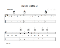 To start, we are going to learn how to play happy birthday on guitar with a chord chart. Happy Birthday Easy Guitar Sheet Music And Tab With Chords And Lyrics