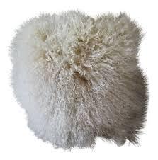 Mongolian fur pillows Red Chairish Cream Natural Mongolian Fur Pillow Chairish