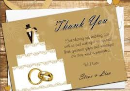 Wedding Thank You Samples Wedding Invitations Free Samples Free Gold Themed Engagement