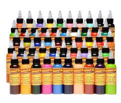 Eternal Ink Colour Chart Eternal Tattoo Ink Full 50 Color Set 4oz Bottles