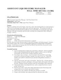 Store Manager Job Resume Assistant Store Manager Resume Sample