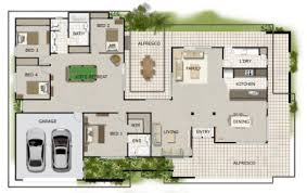 Pleasant Idea Single Story House Plans With Basement Bedroom Level Single Level House Plans