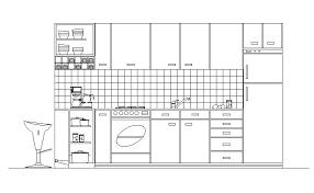 Autocad Kitchen Design Mesmerizing Autocad Kitchen Design Blocks Kitchen Elevation Kitchen Sink