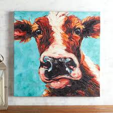 cow canvas wall art sets nature