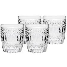whiskey glasses set of 4 drinking crystal rocks double old fashioned glass 8 oz