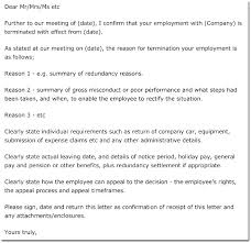 Employee Contract Termination Letter Sample Layoff Format Notice ...