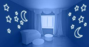 stars and moon for walls or ceilings glow decals on star wall art designs with moon stars glow in the dark wall stickers pinterest ceilings