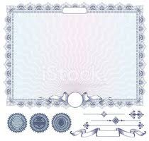 Clipart Coupon Template Vector Blue Certificate Or Coupon Template With Additional Desig