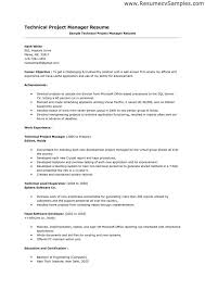 Manager Resume Objective Simple Resume Examples Manager Resume Objective Sample Sample Technical