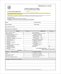 9 Sample Personal Financial Statement Template - Isanetworks.co