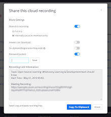 recorded zoom meeting securely in the cloud