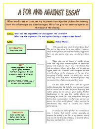 discussion essay esl printables argument mobile phones
