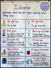 Idioms Anchor Chart This Blog Post Features Five Free Idiom