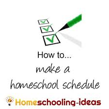 Daily Routine Chart For 9 Year Old Make A Home School Schedule Great Homeschooling Schedules