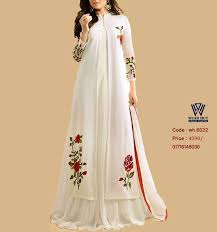 White Red Koti Style Coti Long Gown Dress Koty Design For Womens