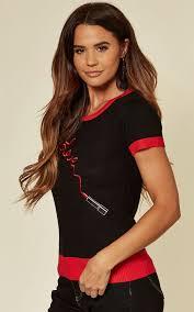 Priscilla Black Short Sleeve Pullover With Lipstick Design | Voodoo Vixen |  SilkFred