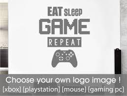 Gamer Wall Sticker - <b>Eat Sleep Game Repeat</b> ( Buy 2 get 3rd FREE )