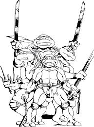Ninja Turtle Coloring Books Ninja Turtles Coloring Pages Classic For