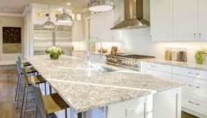 white granite countertops subway tile backsplash modern kitchen design