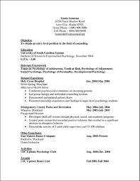 Psychology Sample Resumes Resume Psychology Magdalene Project Org