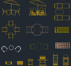 outdoor furniture cad blocks