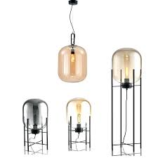 glass bubble light modern bubble pendant amber grey color glass bubble ball floor light fixtures indoor glass bubble light