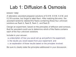 lab review ap biology lab review lab diffusion osmosis 7 lab