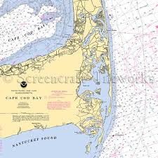 Cape Cod Chart Massachusetts Cape Cod Bay Orleans Nantucket Sound Nautical Chart Decor
