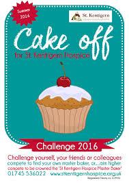 the st kentigern cake off challenge  cake off final poster