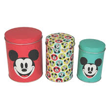 Retro Kitchen Canisters Retro Mickey Mouse Set Of Canisters Tea Coffee Sugar Kitchen