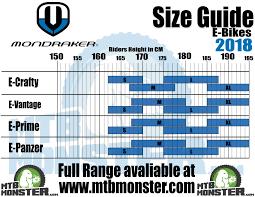 Mondraker Bikes Size Guide What Size Frame Do I Need