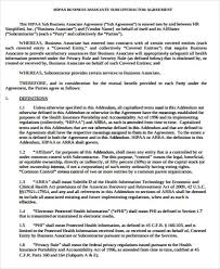 Agreement In Word New Hipaa Business Associate Agreement Template Word