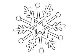 Disegno Di Fiocco Di Neve Da Stampare Gratis E Da Colorare Per Bambini