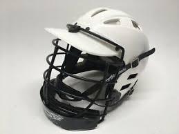 Details About Cascade Clh2 White Lacrosse Helmet Size Xs Black Face Mask