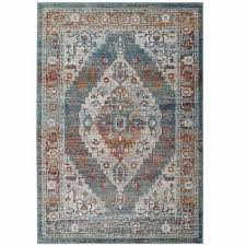 tribute camellia distressed vintage fl persian medallion 8x10 area rug in multicolored