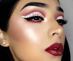 cool makeup ideas confetti eyeliner