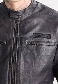 pepe jeans lennon leather jacket 945grey men clothing jackets