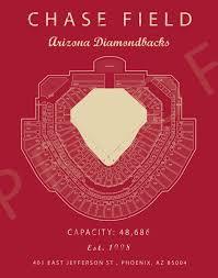 Dbacks Tickets Seating Chart Chase Field Arizona Diamondbacks Chase Field Seating Chart Gift For Diamondbacks Fan Vintage Mlb Gift For Him Mlb Baseball Art